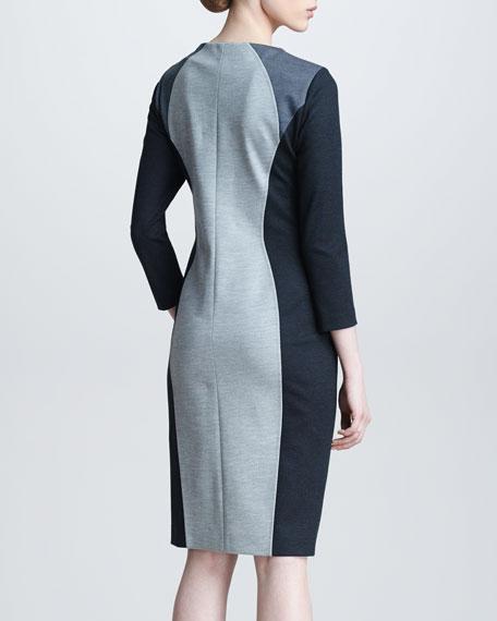 Zip-Front Ponte Dress