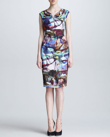 Stained Glass-Print Dress