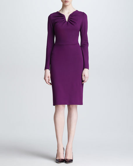 Long-Sleeve Donde Jersey Dress, Amethyst