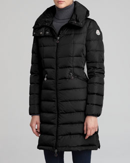 Moncler Long Puffer Coat, Black
