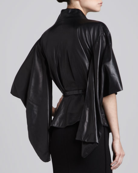 Leather Ginza Jacket, Black