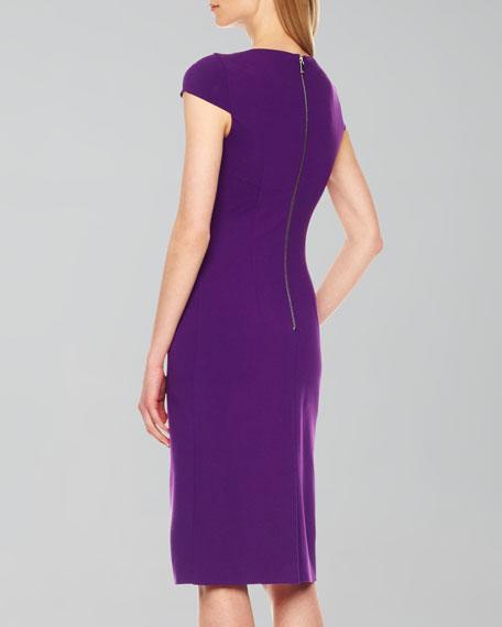 Wrap-Waist Ponte Dress