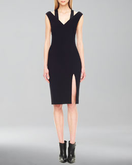Michael Kors  Sequin-Inset Crepe Dress