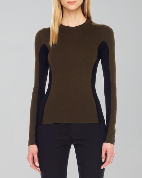 Two-Tone Wool Sweater
