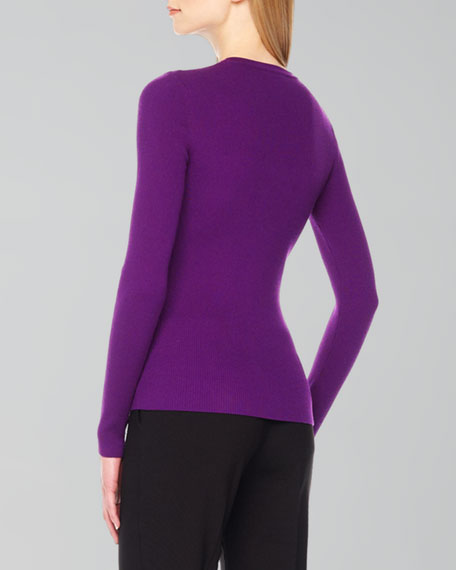 Ribbed Front-Zip Top
