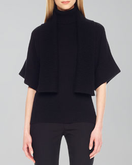 Michael Kors Rib-Trim Open Shrug