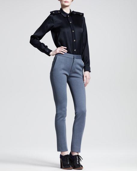Back-Patch Skinny Pants