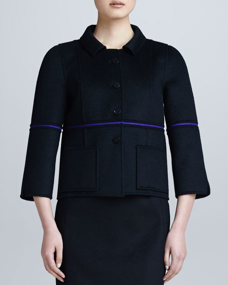 Single-Sliver Bonded Jacket, Black/Violet