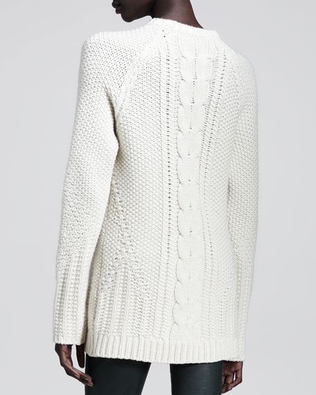 Chunky Wool-Cashmere Sweater