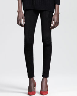THE ROW Ankle-Zip Combo Skinny Pants