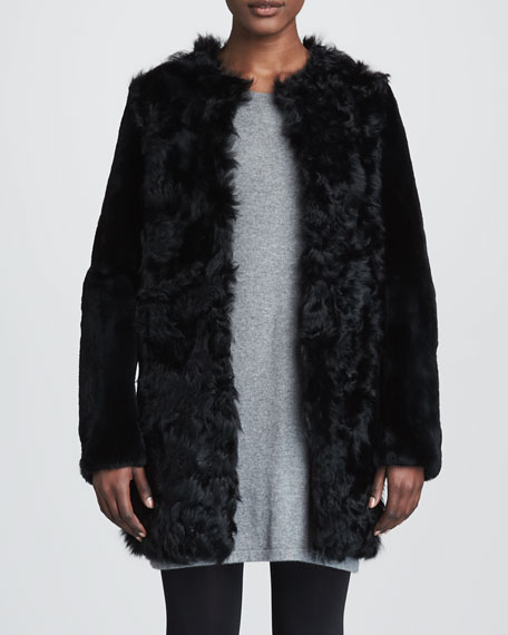 Fuzzy Rabbit Fur Coat