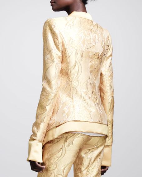Filigree-Brocade Tuxedo Jacket