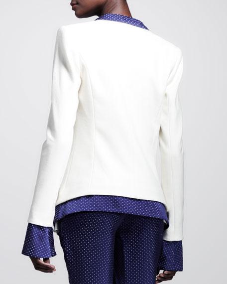 Dotted Layered Tuxedo Jacket