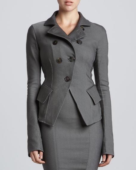 Button-Front Cutaway Jacket, Flint