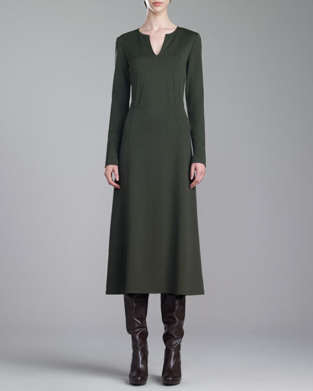 Milano Knit Dress, Loden