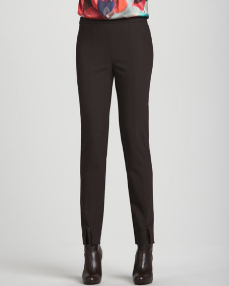 Scuba Bi-Stretch Pants, Mahogany