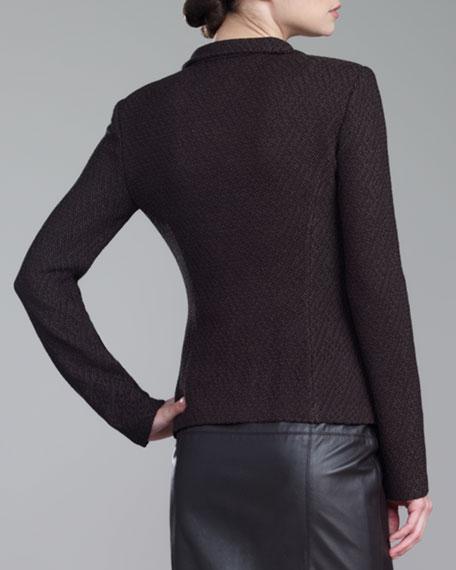 Tile-Knit Jacket, Mahogany
