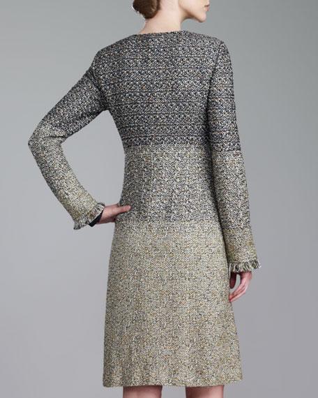 Tweed Knit Topper, Caviar/Multi