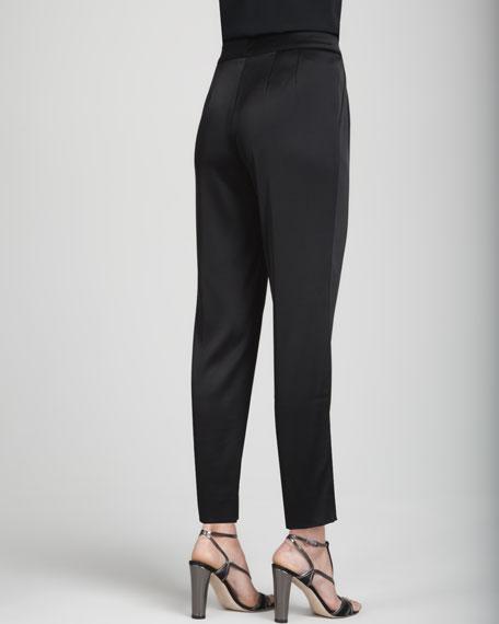 Raquel Cropped Pants, Caviar