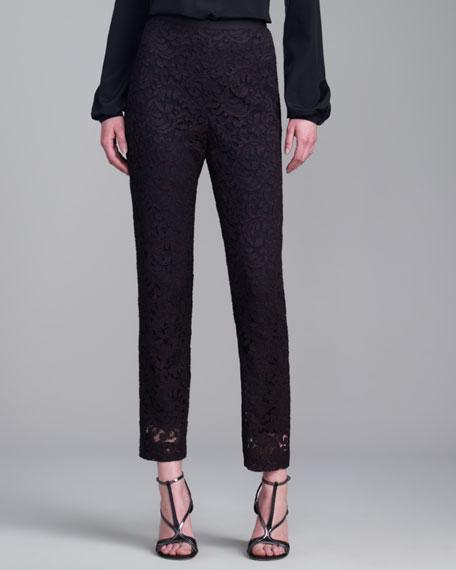 Emma Plume Lace Pants, Caviar
