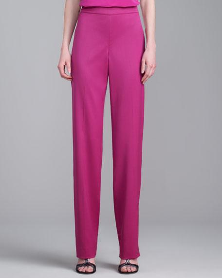 Diana Straight-Leg Pants, Magenta