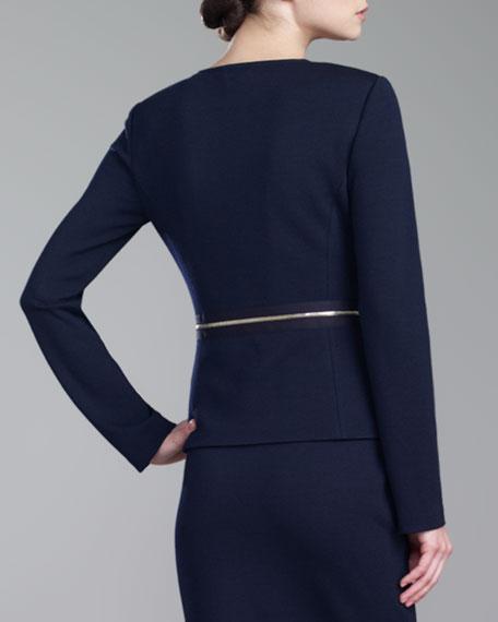 Milano Knit Zip Jacket, Navy