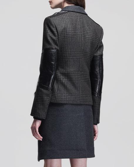 Convertible Zip-Off Cardigan Coat with Fur Detail