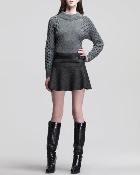 Aldfor Belted Check Miniskirt