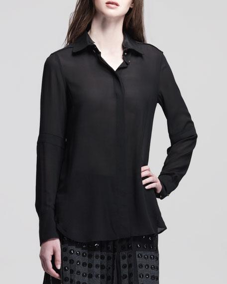 Deyton Long-Sleeve Shirt, Black