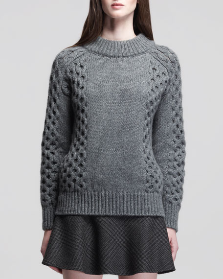 Milton Honeycomb-Knit Cashmere Pullover