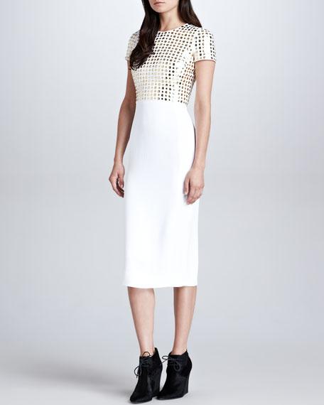Spongy Sable Stud T-Shirt Dress