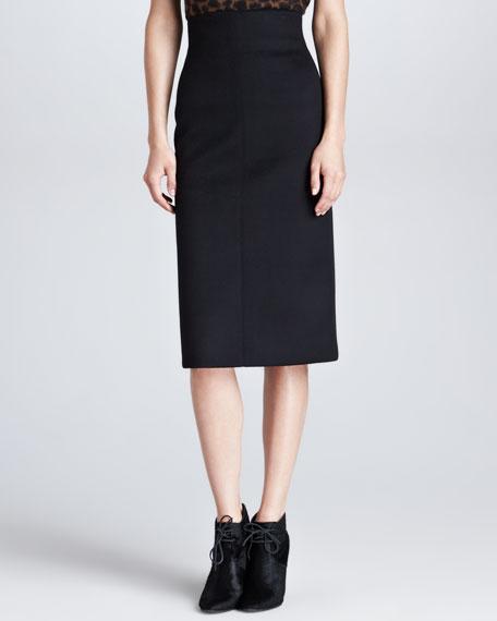 Neoprene Bonded Pencil Skirt