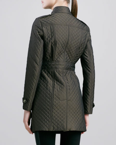 Mid-Length Quilted Coat