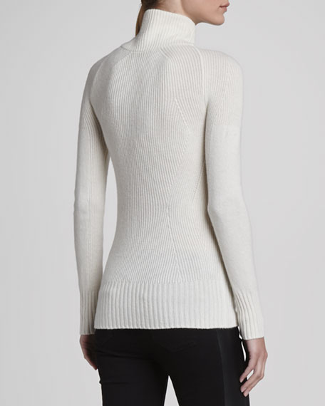 Ribbed V-Neck Cashmere Sweater