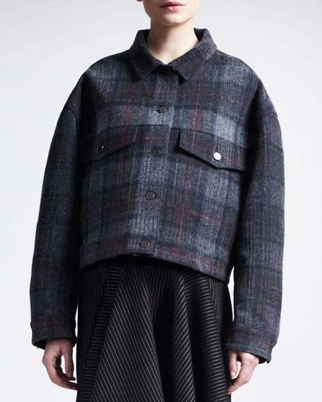 Oversized Plaid Jacket