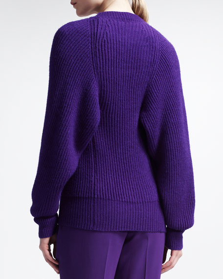 Ribbed Sweater, Violet