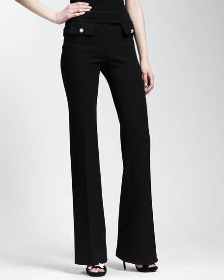 Faux-Pocketed Pants