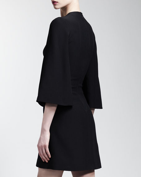 Split Bell-Sleeve Dress