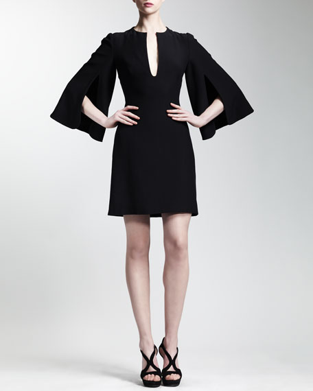 Split Bell-Sleeve Dress