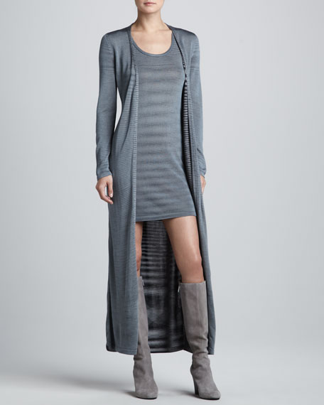 Space-Dye Cardigan & Dress, Steel