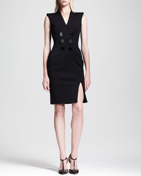Broome Double-Breasted Belt-Back Dress