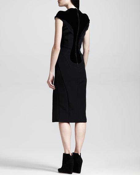 Tribeca Seamed Slit-Front Pencil Dress