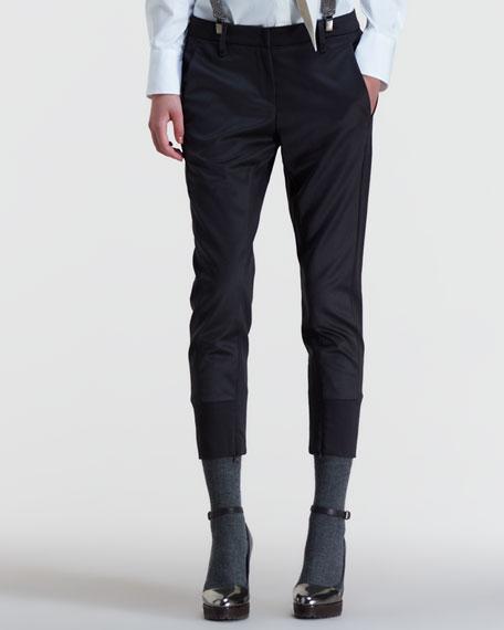 Two-Tone Cigarette Pants