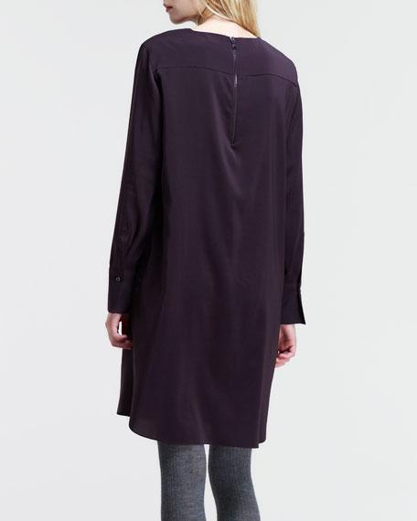 Stretch Silk Sack Dress