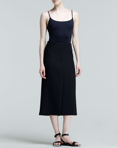 Pouesia Seamed Midi Skirt