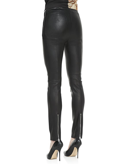 Best Skinny Leather Pants, Black