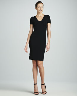 Dolce & Gabbana Viscose Short-Sleeve Dress, Black