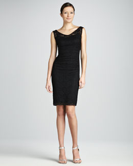 Dolce & Gabbana Lace V-Neck Dress, Black