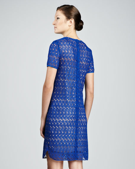 Allover Lace Dress, Royal