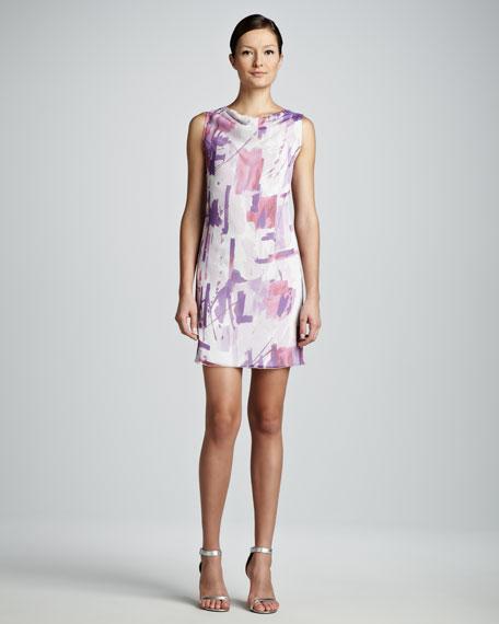 Painterly Printed Sheath Dress
